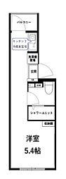 レガーロ中野大和町 3階ワンルームの間取り