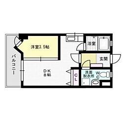 メイワコンチネンタル[7階]の間取り