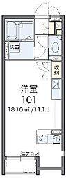 JR武蔵野線 吉川駅 バス15分 おあしす南下車 徒歩2分の賃貸アパート 1階ワンルームの間取り