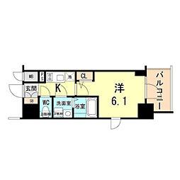 JR東海道・山陽本線 神戸駅 徒歩7分の賃貸マンション 3階1Kの間取り