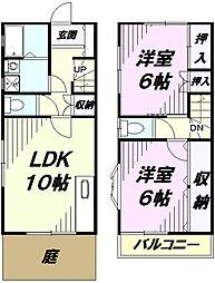 [テラスハウス] 埼玉県所沢市星の宮1丁目 の賃貸【/】の間取り