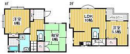 [一戸建] 東京都杉並区西荻南1丁目 の賃貸【/】の間取り