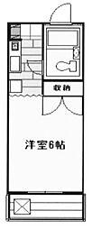 神奈川県川崎市多摩区長尾6丁目の賃貸マンションの間取り
