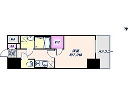 Osaka Metro中央線 朝潮橋駅 徒歩6分の賃貸マンション 1階1Kの間取り