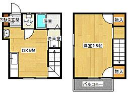 [テラスハウス] 神奈川県川崎市多摩区枡形2丁目 の賃貸【/】の間取り