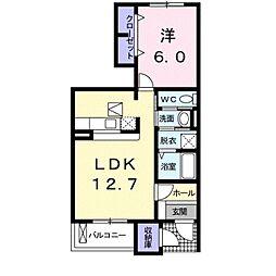 ブルックサイドビレッジ I[1階]の間取り