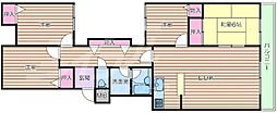 大阪モノレール本線 山田駅 徒歩14分の賃貸マンション 1階4LDKの間取り