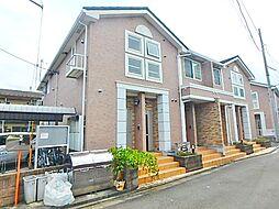 東京都日野市大字宮の賃貸アパートの外観