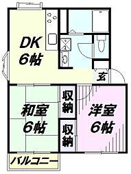 埼玉県所沢市東狭山ケ丘6丁目の賃貸マンションの間取り