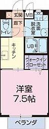 愛知県豊田市配津町三蔵前の賃貸アパートの間取り