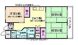 パレロワイヤル三笠[2階]の間取り
