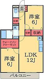 千葉県市原市松ケ島1丁目の賃貸アパートの間取り