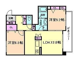 大阪府豊中市長興寺南4丁目の賃貸アパートの間取り