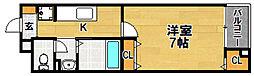 Osaka Metro今里筋線 井高野駅 徒歩4分の賃貸マンション 4階1Kの間取り
