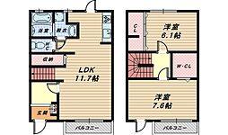 大阪府和泉市小田町2丁目の賃貸アパートの間取り