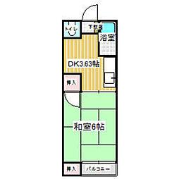 ピュアハイツ飯倉[203号室]の間取り
