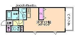 ロジュマン松原[7階]の間取り