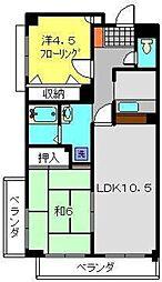 神奈川県横浜市港南区芹が谷3丁目の賃貸マンションの間取り