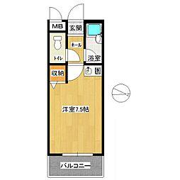 KiKiハウス[202号室]の間取り