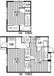[タウンハウス] 福岡県福岡市東区原田1丁目 の賃貸【/】の間取り
