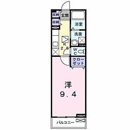 ミスティコ・ソル・オエステ 1階1Kの間取り