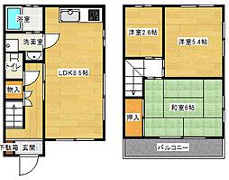 東京都稲城市押立の賃貸マンションの間取り