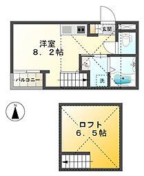愛知県豊田市桜町2丁目の賃貸アパートの間取り
