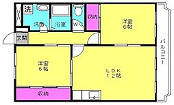アメニティ長砂[2階]の間取り