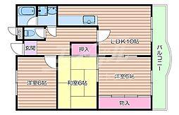 JR東海道・山陽本線 千里丘駅 徒歩21分の賃貸マンション 1階3LDKの間取り