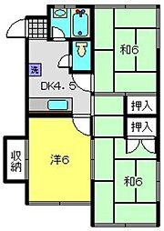 高水ビル[205号室]の間取り