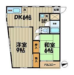 鎌倉徳増ビル[305号室]の間取り
