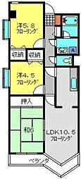 神奈川県横浜市磯子区洋光台4丁目の賃貸マンションの間取り
