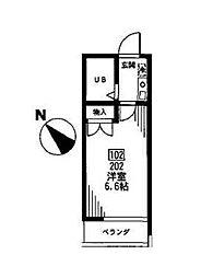 ジェイピーシーミゾノクチ[2階]の間取り
