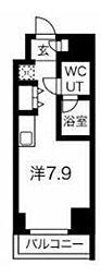 JR京浜東北・根岸線 川崎駅 徒歩4分の賃貸マンション 9階ワンルームの間取り