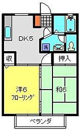 マンションTUKASA[302号室]の間取り