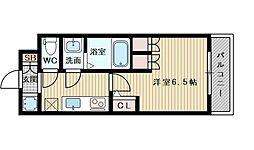 アルティザ淡路駅東 8階1Kの間取り