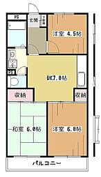 RALLYマンション[3階]の間取り