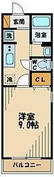 京王線 多磨霊園駅 徒歩20分の賃貸アパート 1階1Kの間取り