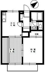 ディアコート大蔵[1階]の間取り