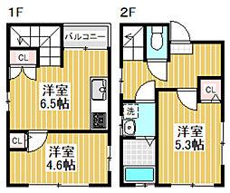 [一戸建] 東京都中野区鷺宮1丁目 の賃貸【/】の間取り