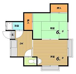 すずらんハウス一番館[2階]の間取り