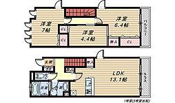 メゾ・エルサ三国ヶ丘[2階]の間取り