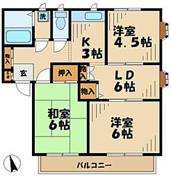メゾンドU[2階]の間取り