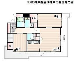 兵庫県神戸市西区糀台5丁目の賃貸マンションの間取り
