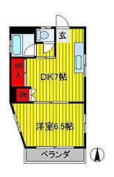 第3メゾン若竹[1階]の間取り