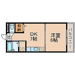 セイコーズマンション列見[1階]の間取り