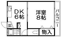 香栄マンション[1階]の間取り