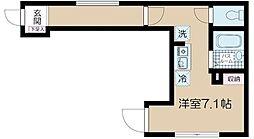 JR中央線 高円寺駅 徒歩10分の賃貸アパート 2階ワンルームの間取り
