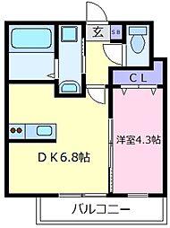 ステラウッド島泉II[1階]の間取り