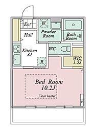 シニア向け賃貸住宅サンリスタ登戸 1階1Kの間取り